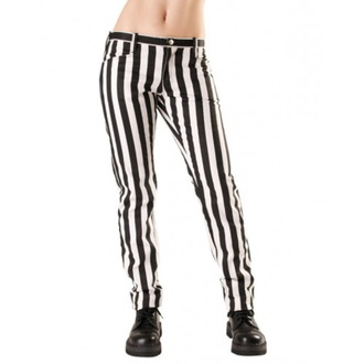 Hlače ženske BLACK PISTOL - Close Pants Stripe Black/white, BLACK PISTOL