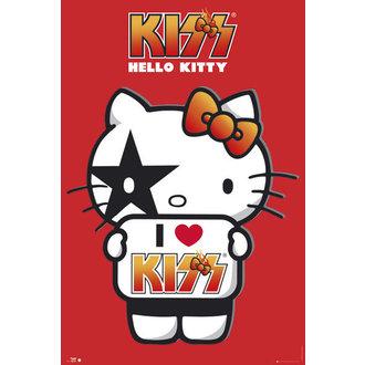 plakat Bok Mače - Kiss Ja Ljubav - GB posters, HELLO KITTY, Kiss