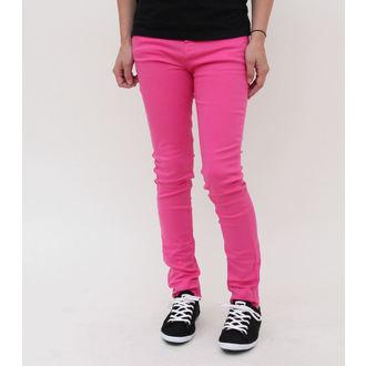 Hlače ženske PAKAO BUNNY - Super Mršav - Pink, HELL BUNNY