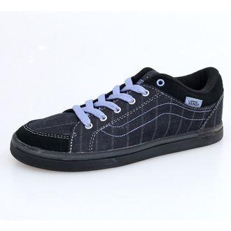 Cipele ženske VANS - W Skyla - Menswear - Crno-SIVA, VANS