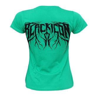 Majica ženska Crno IKONA - Kriket - Zelen, BLACK ICON
