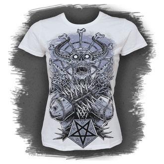 Majica ženska Crno IKONA - Metal Demon - Bijelo, BLACK ICON