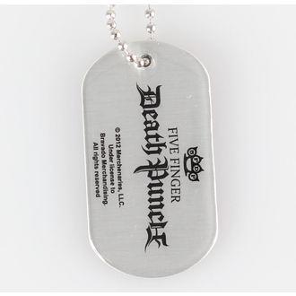 Ogrlica (oznaka za psa) Five Finger Death Punch - zglob Kruna - RAZAMATAZ, RAZAMATAZ, Five Finger Death Punch