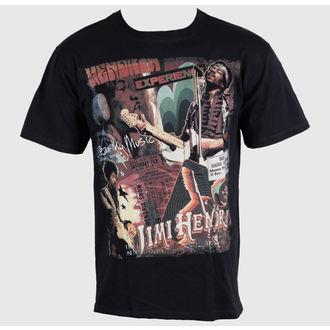 Majica muška Jimi Hendrix - Čuti Mi Music - LIQUID PLAVA, LIQUID BLUE, Jimi Hendrix