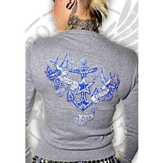 džemper ženski Toxico - Never Reći Never - Siva, TOXICO