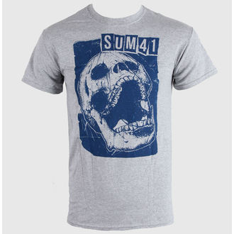Majica muška SUM 41 - Skull Sportovi - Siva - LIVE NATION, LIVE NATION, Sum 41
