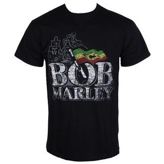 Majica muška Bob Marley - Distressed Logo - Crno - ROCK OFF, ROCK OFF, Bob Marley