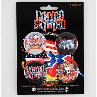 Bedževi Lynyrd Skynyrd - CDV, C&D VISIONARY, Lynyrd Skynyrd