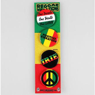 Bedževi DSX Reggae&Rasta - Sortiran, C&D VISIONARY