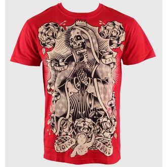 Majica muška Namazati BRAND - Mrtav Guadelupe - Crven, LIQUOR BRAND