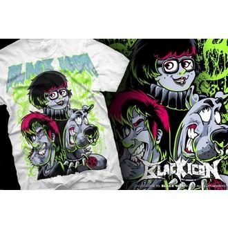 Majica muška Crno IKONA - Scooby - Bijelo, BLACK ICON