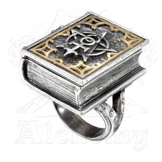prsten ALCHEMY GOTHIC - Dee's Knjiga od Angel Magija Stash