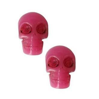 Naušnice KREEPSVILLE ŠEST ŠEST ŠEST - Skull - Pink, KREEPSVILLE SIX SIX SIX