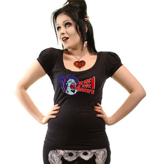 Majica ženska KREEPSVILLE ŠEST ŠEST ŠEST - Vosak Vaš Wolfodlak Napuhati Rukav, KREEPSVILLE SIX SIX SIX