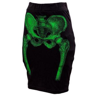 suknja ženska KREEPSVILLE ŠEST ŠEST ŠEST - Skeleton Olovka - Zelen, KREEPSVILLE SIX SIX SIX