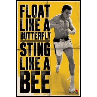 plakat Muhammad Ali - Float Kao A Leptir - PYRAMID POSTERS