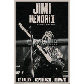 plakat Jimi Hendrix - Copenhagen - PYRAMID POSTERS, PYRAMID POSTERS, Jimi Hendrix