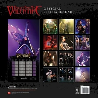 kalendar za godinu 2014 Bullet For My Valentine - PYRAMID POSTERS, PYRAMID POSTERS, Bullet For my Valentine