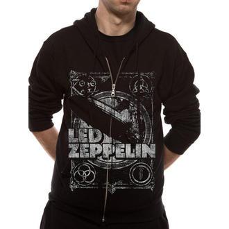 hoodie muški Led Zeppelin - Shook Mene - Crno - LIVE NATION, LIVE NATION, Led Zeppelin