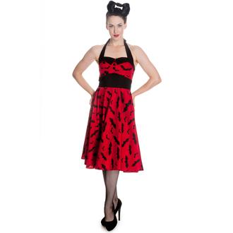 Haljina ženska PAKAO BUNNY - Bat 50´s - Crvena / Crno, HELL BUNNY