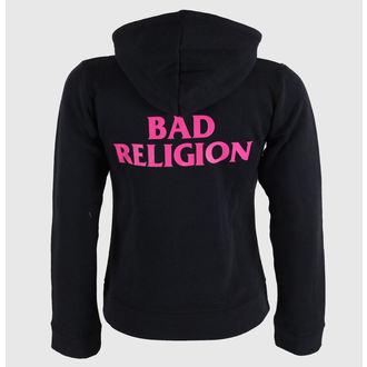 hoodie ženski Bad Religion - Hot Pink - Crno - KINGS ROAD, KINGS ROAD, Bad Religion