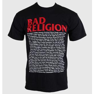 Majica muška Bad Religion - Pjesma List - Crno - 00384, KINGS ROAD, Bad Religion