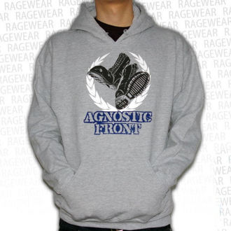 hoodie muški Agnostic Front - Against The Svijet - Siva - RAGEWEAR, RAGEWEAR, Agnostic Front