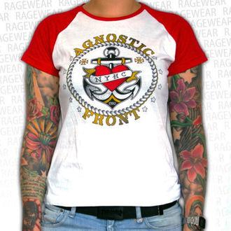 Majica ženska Agnostic Front - Anchor - Crvena / Bijela - RAGEWEAR, RAGEWEAR, Agnostic Front