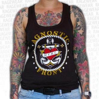 Potkošulja ženska Agnostic Front - Anchor - Crno - RAGEWEAR, RAGEWEAR, Agnostic Front