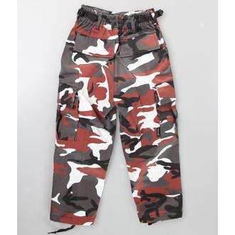 hlače djeca MIL-TEC - Sjedinjene Države Crijevo - Crven Camo, MIL-TEC