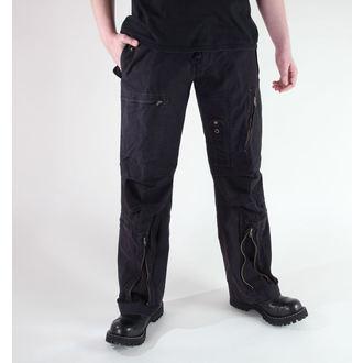 hlače muške MIL-TEC - Fliegerhose - Pretpranja Crno, MIL-TEC