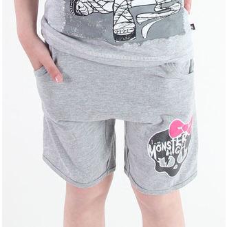 kratke hlače djevojčice Monster Visok - Siva, TV MANIA