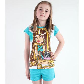 pidžama djevojčice TV MANIA - Monster Visok - Bijela / tirkiznim, TV MANIA