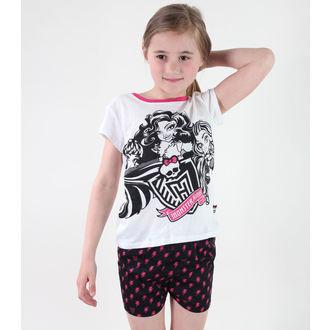 pidžama djevojčice TV MANIA - Monster Visok - Bijelo, TV MANIA