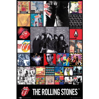 plakat The Rolling Stones - Diskography Maxi, GB posters, Rolling Stones