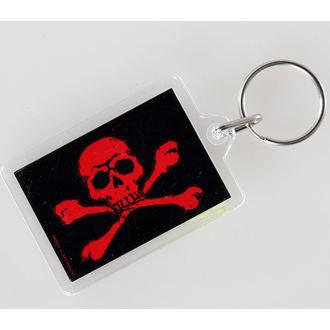 Privjesak za ključeve Skull i Prekrižene - Crven - PYRAMID POSTERS, PYRAMID POSTERS