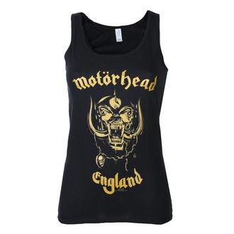 Potkošulja ženska Motörhead - England Zlato - Crno - ROCK OFF - MHEADVT01LB