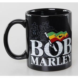 Šalica Bob Marley - Distressed Logo - Crno - ROCK OFF, ROCK OFF, Bob Marley