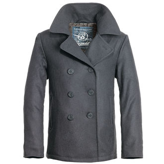 Jakna/kaput muški BRANDIT - Pea Coat - Anthracite, BRANDIT