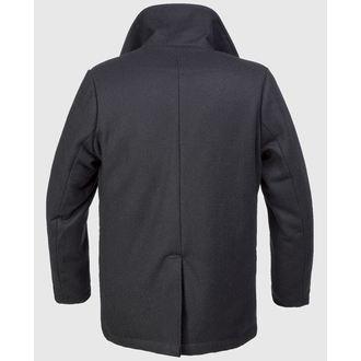 Kaput muški zimski Brandit - Pea Coat - Crno, BRANDIT