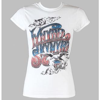 Majica ženska Lynyrd Skynyrd - Usa Banner Logo - LIVE NATION - Bijelo, LIVE NATION, Lynyrd Skynyrd