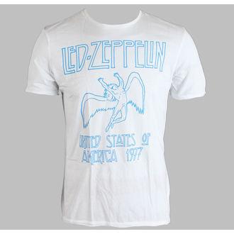 Majica muška Led Zeppelin - 77 - AMPLIFIED - Bijelo, AMPLIFIED, Led Zeppelin