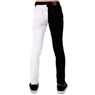 hlače muške 3RDAND56th - Split Noga Mršav - Crno / Bijelo, 3RDAND56th