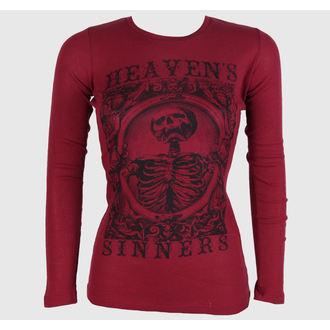 Majica ženska dugi rukav SE7EN DEADLY - Raj Sinners Crven, SE7EN DEADLY