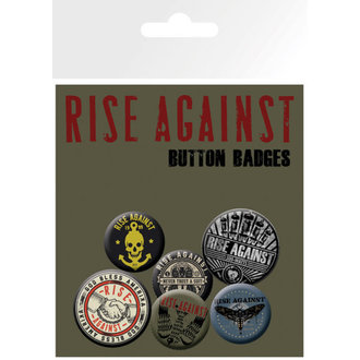 Bedževi Rise Against - Shaking Ruke - GB posters, GB posters, Rise Against