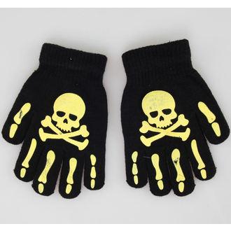 rukavice Skull - Crno / Žuta