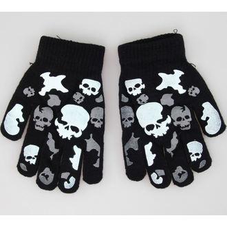 rukavice Skull - Crno / Bijelo