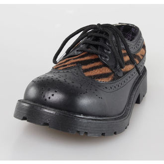 cipele UNDERGROUND - Crno Koža / Capucino Zebrino