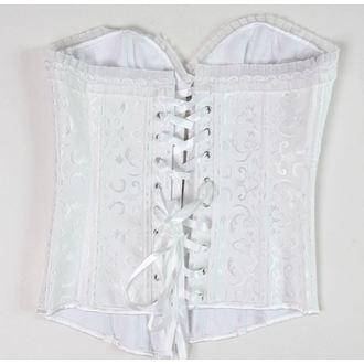 korzet ženski DRACULA CLOTHG - Bijelo - OŠTEĆENA, DRACULA CLOTHING