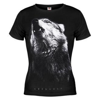 Majica ženska AMENOMEN - Wolf - Crno - DOMEN036